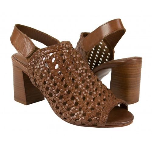 Braided leather sandals...