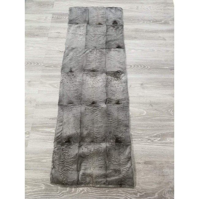 Rabbit Fur Blanket, 64x21 in, Bed Blanket, Winter Blanket
