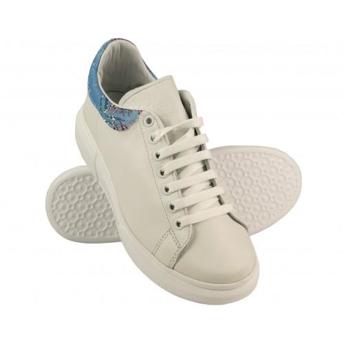 Sneakers con cordones y...