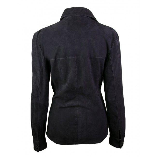 Camisa de ante invernal con cierre abotonado