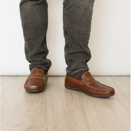Zapatos náuticos de piel en...