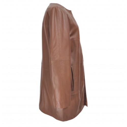 Abrigo de piel para mujer...