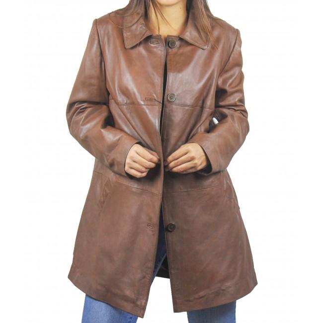 Abrigo de piel natural para mujer