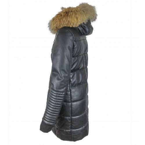 Abrigo plumon con capucha...