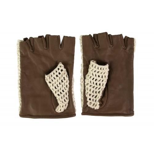 Guantes de piel sin dedos...