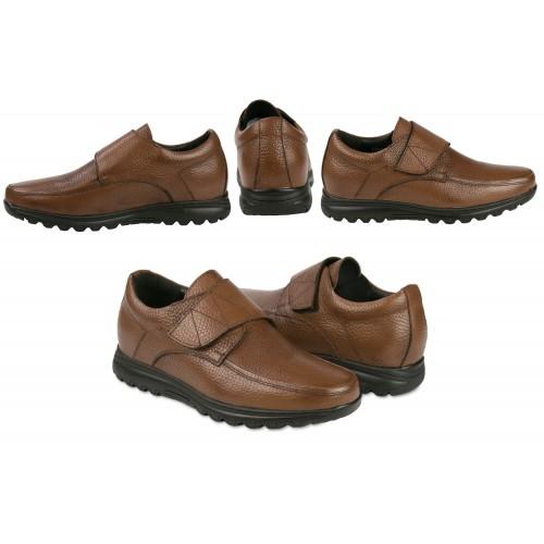 Zapatos de piel con velcro...