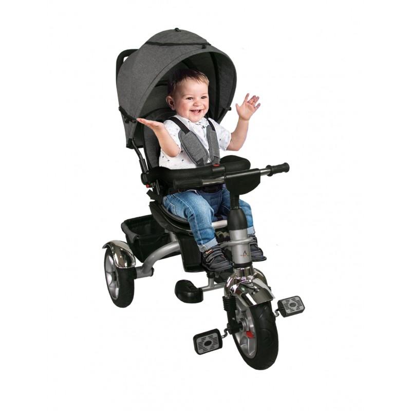 Silla de Paseo de Bebé con 3 Ruedas y capota - Plegable Compacta