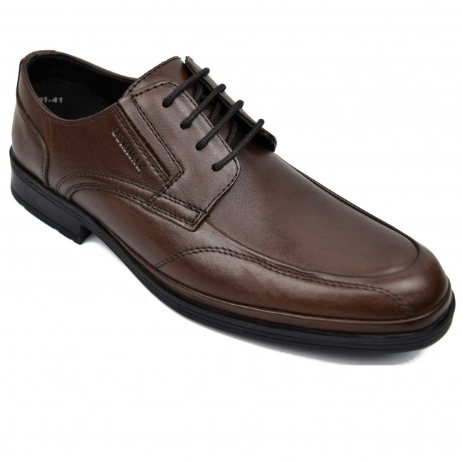Zapatos de hombre para hosteleria de piel con cordones